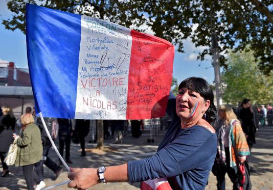 Metting de Nicolas Sarkozy au Zénith de Paris le 09 octobre 2016