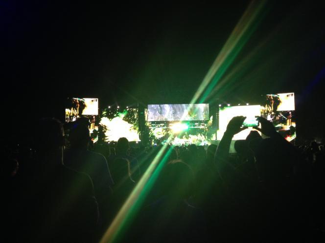 Lors du concert de Paul McCartney dans le cadre du Desert Trip Festival, le 8 octobre 2016.