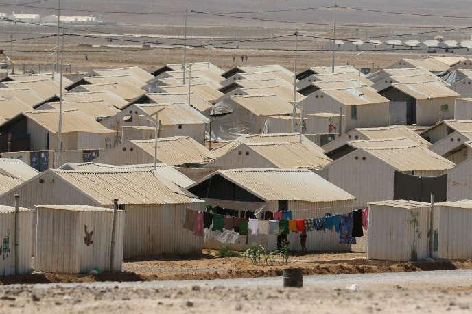 Vue générale du camp d'Azrak dans le nord de la Jordanie, le9septembre2016.
