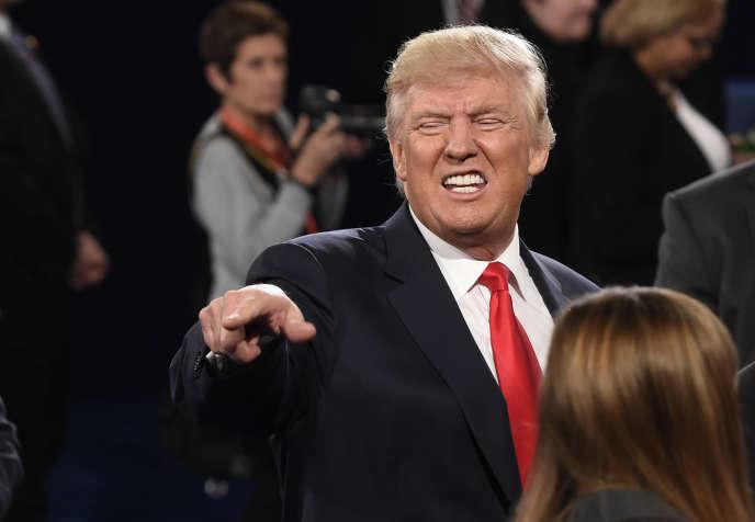 Lors du deuxième débat avant la présidentielle américaine, à Saint Louis (Missouri), le 9 octobre.