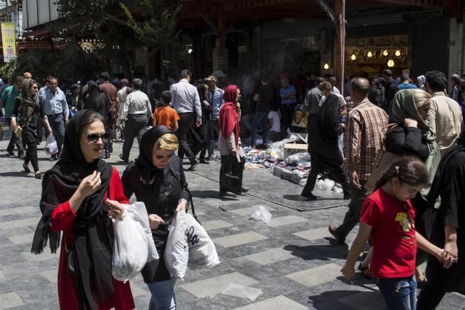 Le bazar de Téhéran.
