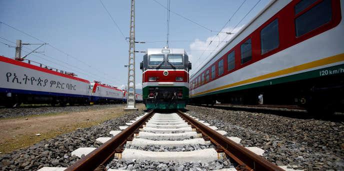 Le nouveau train qui relie Addis-Abeba à Djibouti, en gare d'Adama, en Ethiopie, le 24 septembre 2016.