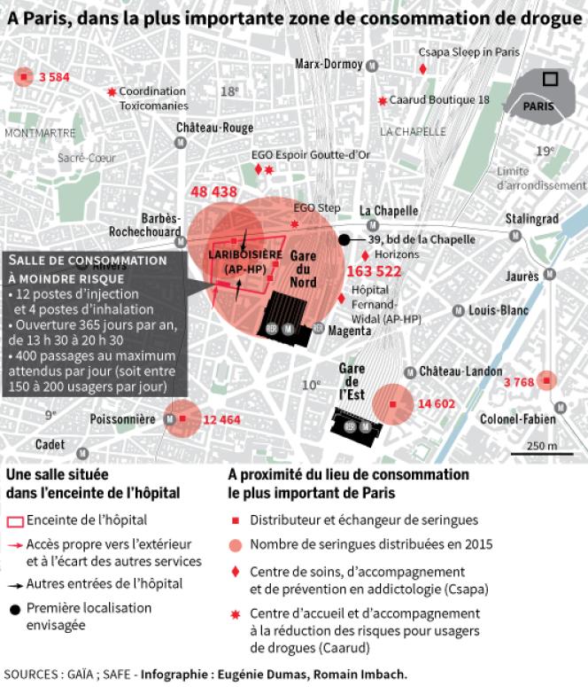 A Paris, dans la plus importante zone de consommation de drogue.