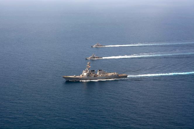 L'USS «Mason» photographié en septembre.