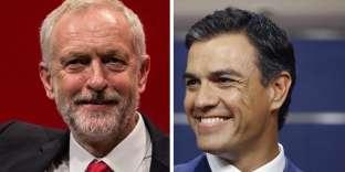 Jeremy Corbyn et Pedro Sanchez.
