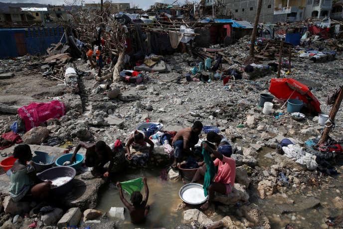 A Jérémie (Haïti), lundi 10 octobre.