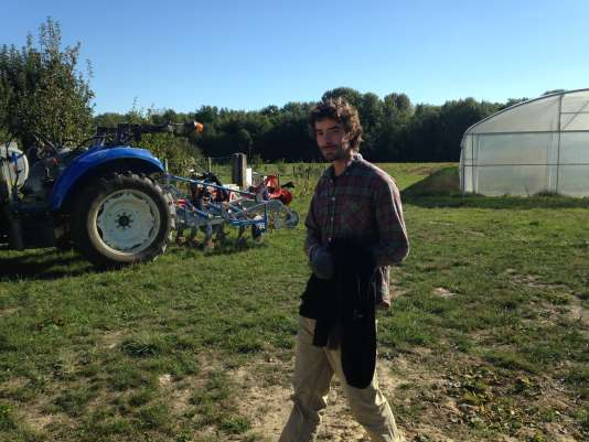 Xavier Fender a commencé à réflechir à son projet agricole en 2011, après la naissance de son fils.