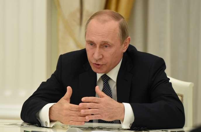 Vladimir Poutine au Kremlin, à Moscou, le 14 juillet 2016.
