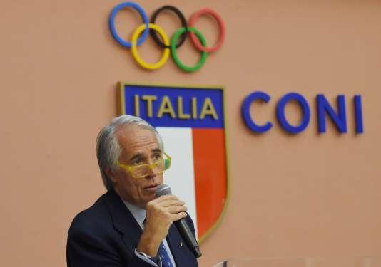 Le président du Comité olympique italien, Giovanni Malago, mardi 11 octobre, à Rome.