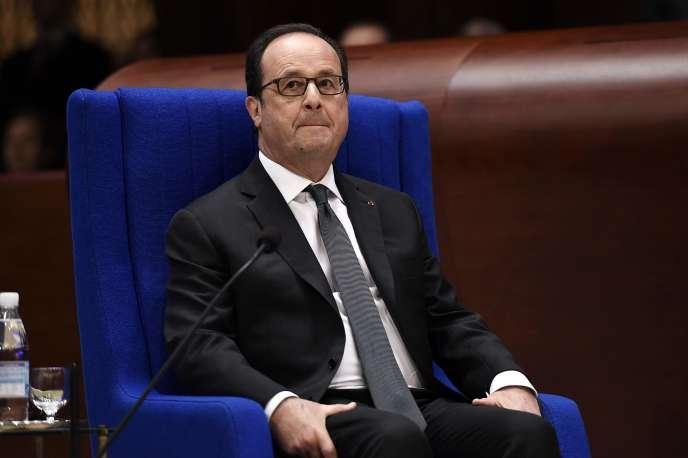 Francois Hollande, le 11 octobre à Strasbourg.