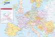 Carte du réseau ferré européen.