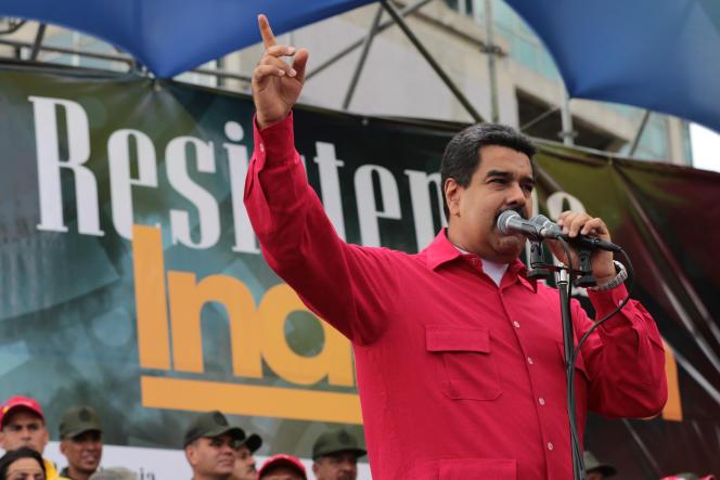 Le président vénézuélien, Nicolas Maduro, lors d'un discours àCaracas, le 12 octobre.