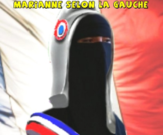 Montage du site Riposte laïque sur la citation de François Hollande.