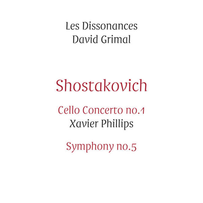 Pochette de l'album consacré à Dimitri Chostakovitch par Les Dissonances.