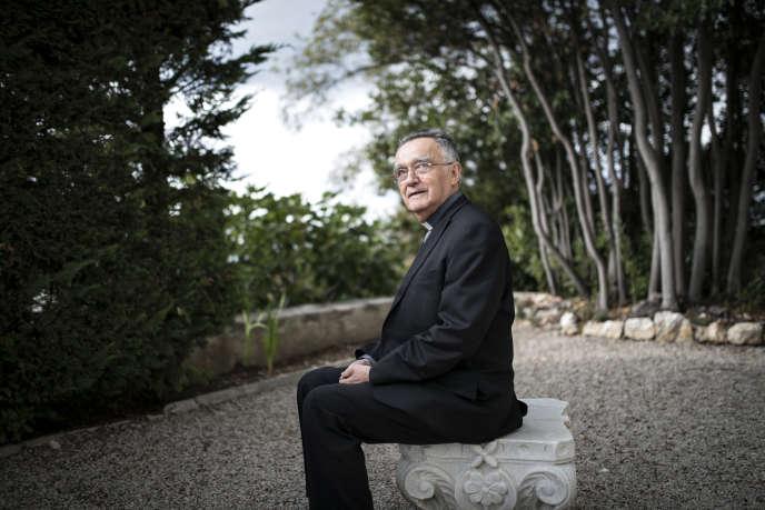 Georges Pontier, archevêque de Marseille et président de la Conférence des évêques de France depuis 2013, et jusqu'en 2019.