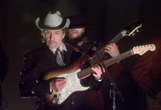 Bob Dylan lors de la cérémonie des Grammy Awards à Los Angeles, en février 2002.