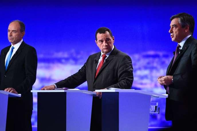 Jean-Frédéric Poisson, lors du débat télévisé sur TF1, le 13 octobre.