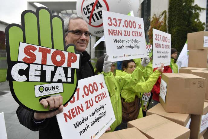 Mobilisation anti-CETA et TTIP, à Berlin le 12 octobre.
