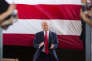 Republican presidential candidate Donald Trump arrives to speak at a campaign rally, Wednesday, Oct. 12, 2016, in Ocala, Fla. (AP Photo/ Evan Vucci)