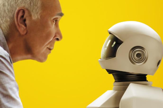 Extrait de l'affiche du film « Robot and Frank»,de Jake Schreier, avec Peter Sarsgaard, Frank Langella et Susan Sarandon (EU, 2012).