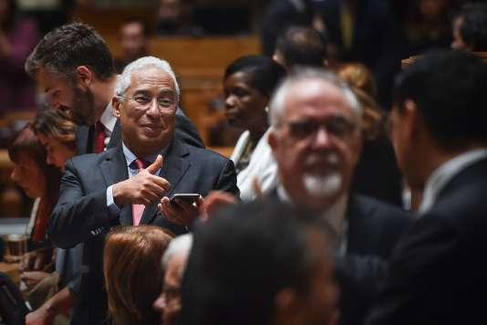 Le premier ministre socialiste portugais, Antonio Costa, le 14 octobre, à Lisbonne.