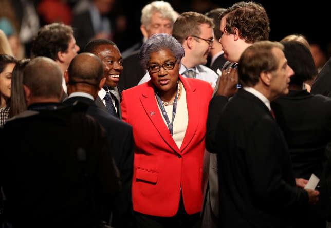Donna Brazille, présidente du Comité national démocrate américain, à l'université de Longwood à Farmville, en Virginie, le 4 octobre.