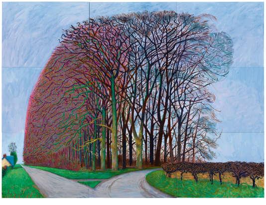 David Hockney «Bigger Trees Nearer Warter, Winter»(2008).