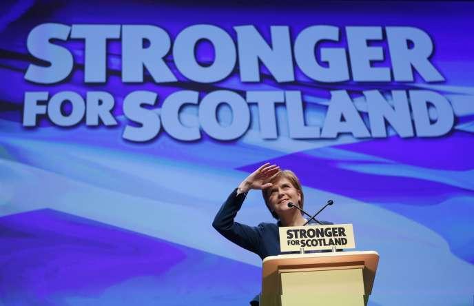 La première ministre écossaise, Nicola Sturgeon, jeudi 13 octobre à Glasgow.