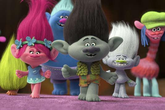 Une scène du film d'animation américain de Mike Mitchell et Walt Dohrn, « Les Trolls ».
