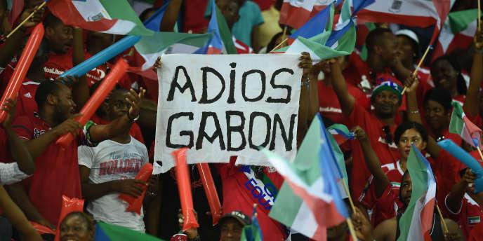 Lors de l'élimination du Gabon, pendant la CAN 2015 en Guinée équatoriale.