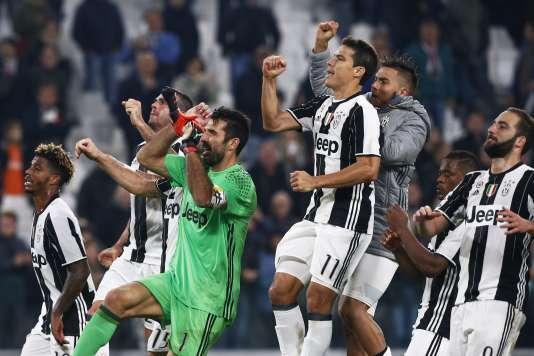 Les joueurs de la Juve après leur victoire face à l'Udinese, le 15 octobre.