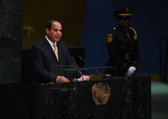 Le président égyptien, Abdel Fattah Al-Sissi, lors de la 71e Assemblée générale des Nations unies, le 20 septembre 2016 à New York.
