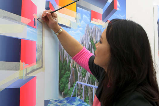 L'artiste Seo dans son atelier.