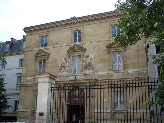 Entrée de l'Ecole normale supérieure, au numéro 45 de la rue d'Ulm, à Paris.