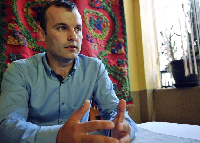 Mladen Grujicic, le 28 septembre, à Srebrenica.