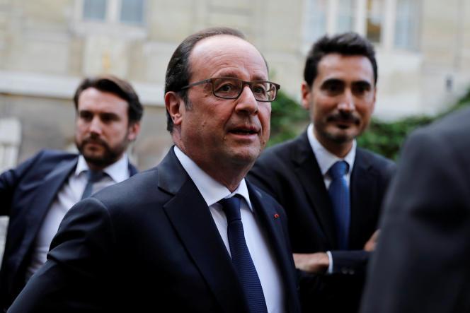 François Hollande, à l'école des Mines ParisTech, le 15 octobre.