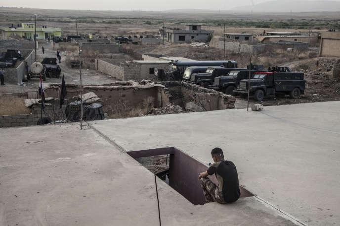 A Tal Aswad, dans la plaine de Ninive près de Mossoul, le 17 octobre.
