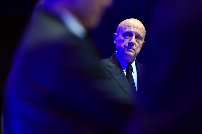 Alain Juppé au Salon planète PME, le 17 octobre à Paris.