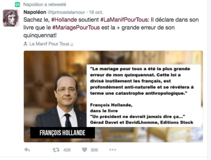 La Fausse Citation De Hollande Sur La Manif Pour Tous