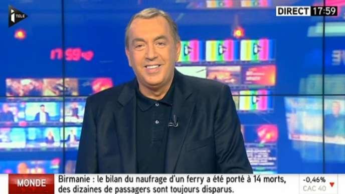 Jean-Marc Morandini à l'antenne d'i-Télé, le lundi 17 octobre.