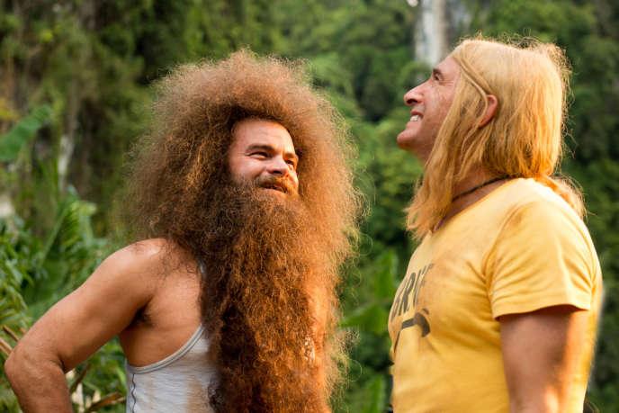 Clovis Cornillac et Jean Dujardin dans le film français de James Huth,« Brice 3».