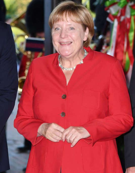 Angela Merkel à Dusseldorf, le 23 août 2016.
