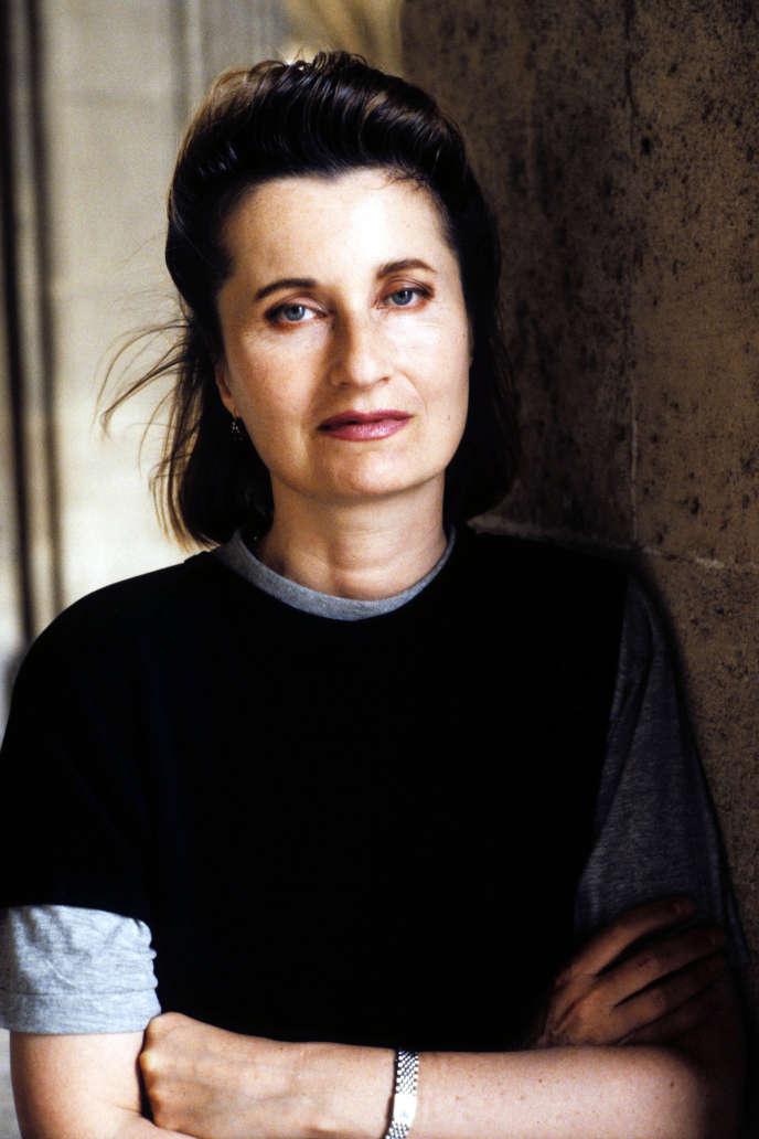 Elfriede Jelinek, en 1996.