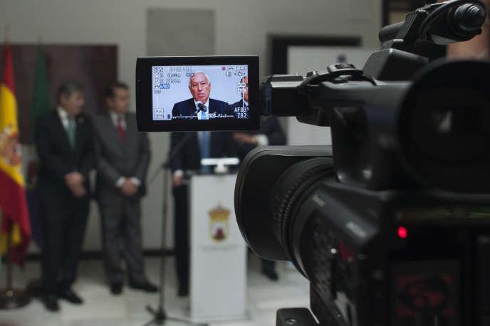 Le ministre espagnol des affaires étrangères, José Manuel García-Margallo, lors d'une visite àAlgésiras, le 18 octobre 2016.