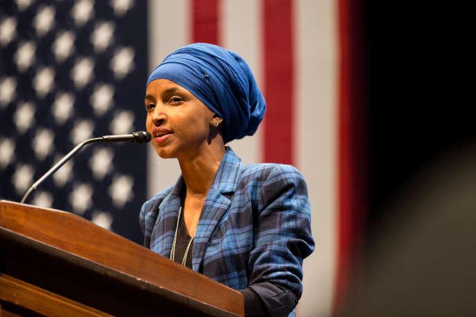 L'AméricaineIlhan Omar est d'origine somalienne, réfugiée aux Etats-Unis à l'âge de 12 ans. Démocrate, elle a remporté la primaire de son parti pour concourir aux éléctions locales du 8 novembre dans le Minnesota.