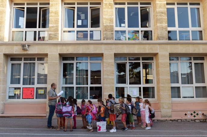 La rentrée dans une école à Marseille.