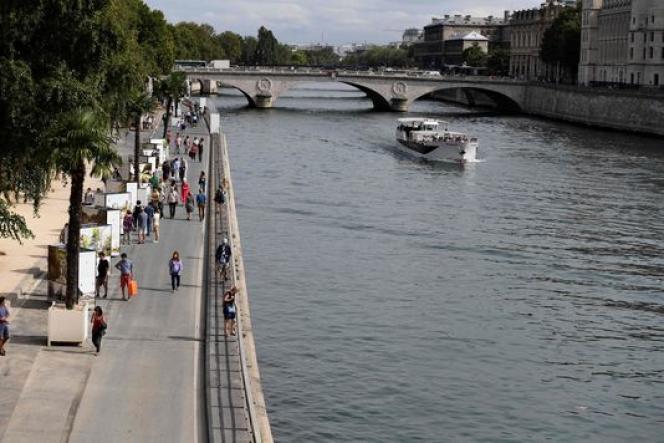 La voie Georges-Pompidou, rendue piétonne à Paris le 11 septembre 2016.