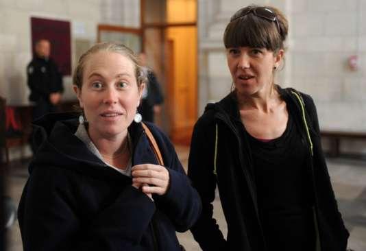 La militante basque Emilie Martin à la cour d'appel de Pau le 11 octobre.