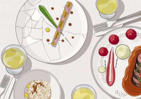 Framboises, anguille fumée, poireaux, chevreuil ou nougat… Les propositions inattendues du chef Olivier Nasti pour accompagner un gewurztraminer ou un pinot gris.