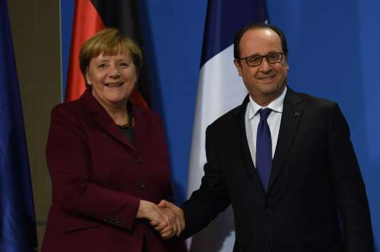 Angela Merkel et Francois Hollande, le 19 octobre à Berlin.